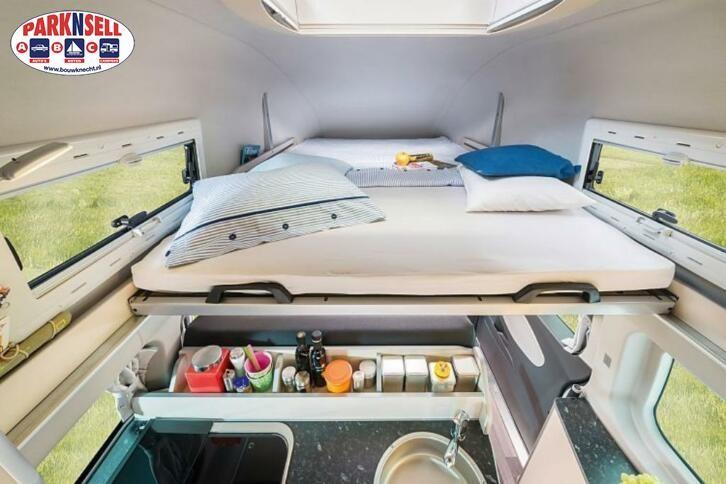 2016Westfalia Nugget Highroof 6 PERSOONS met Ford Custom 155pkmet schone en zuinige Euro-5.
